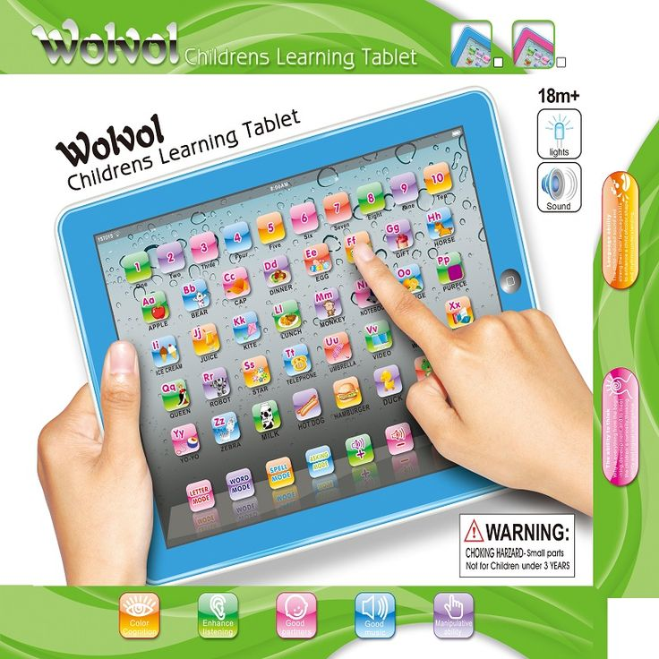 WolVol Childrens Learning Tablet, Touch-Screen Lights and Sound (50 Keys 9in*7in) - Great English Learning Starter