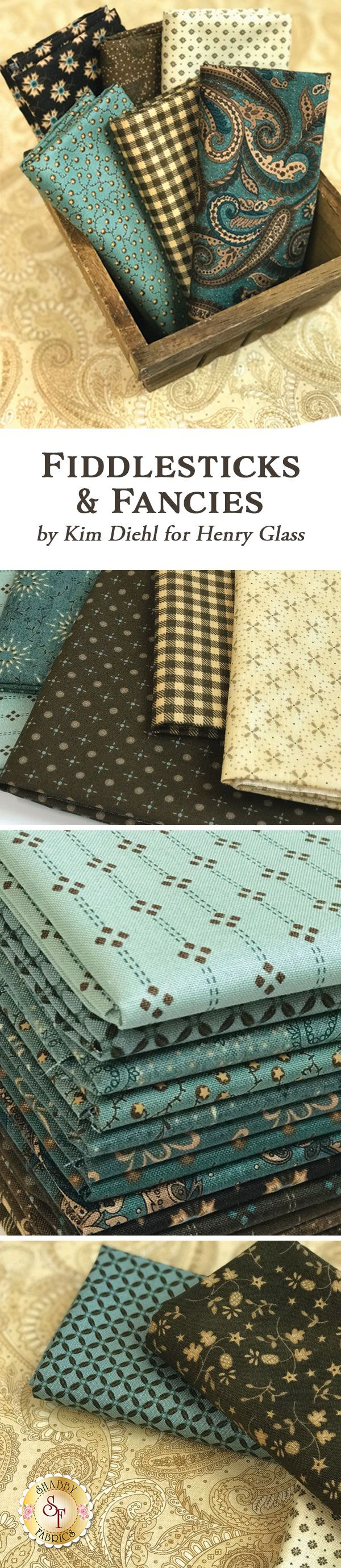 Fiddlesticks & Fancies by Kim Diehl is a lovely traditional collection filled with beautiful prints that will blend with any decor from Henry Glass Fabrics available at Shabby Fabrics.