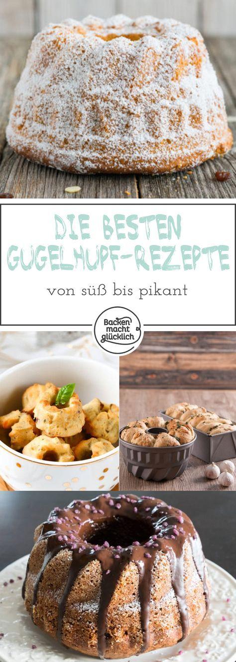 Tolle Zusammenstellung verschiedenster Gugelhupf-Rezepte: Gugelhupf mal süß, mal pikant, große Gugelhupf-Formen und Minigugel. Dazu viele Tipps und Tricks!