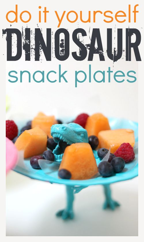 dinosaur snack plates