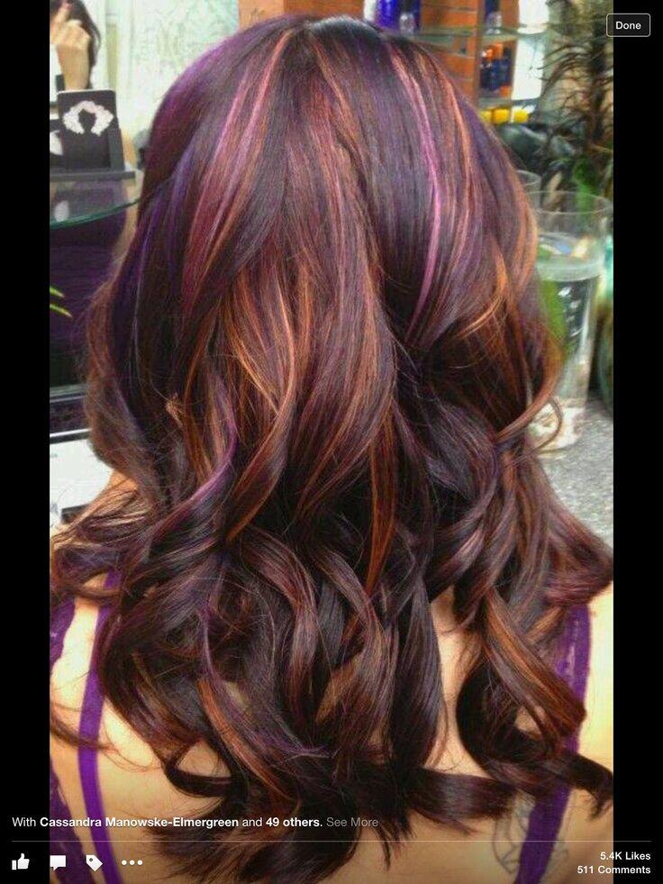 Brown W Purple N Caramel Just By A Hair Pinterest