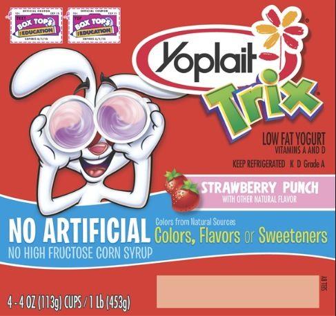 Yoplait Trix Yogurt Strawberry Punch Diet Amp Fitness