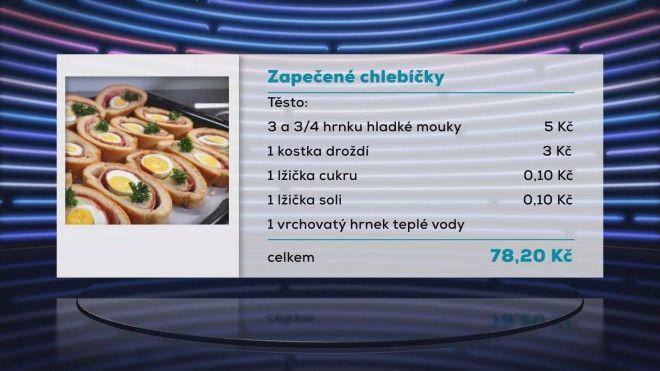 Zapečené chlebíčky 1