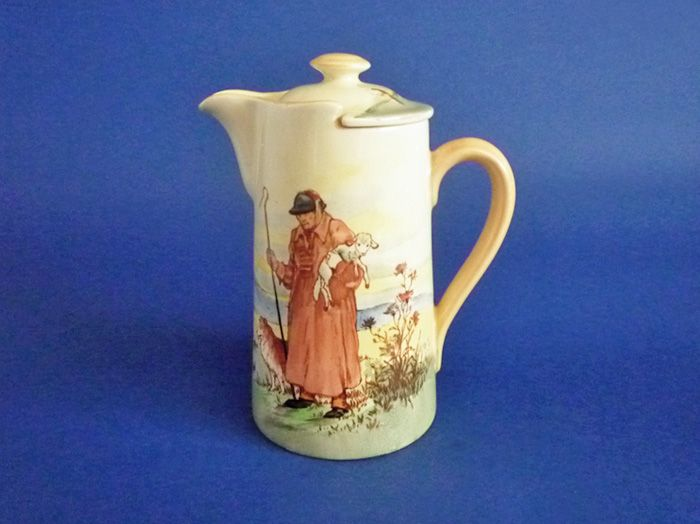 Rare Royal Doulton 'Cotswold Shepherd' New Barton Covered Jug D5561 c1936