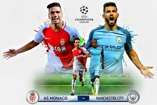 Prediksi Bola Liga Champions AS Monaco VS Manchester City 16 Maret 2017