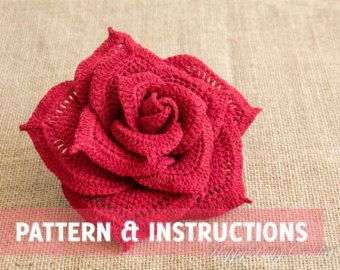 Crochet patrones de color de rosa rosa medio por HappyPattyCrochet                                                                                                                                                                                 Más