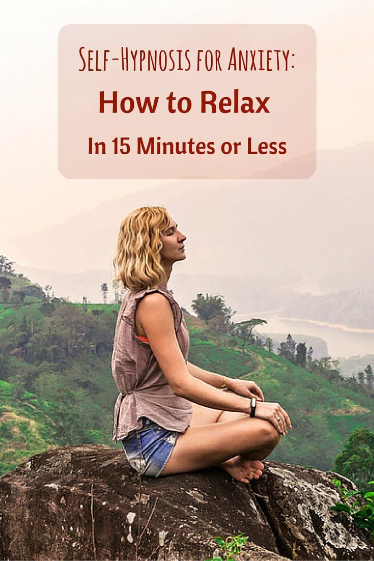 Self-Hypnosis for Anxiety: How to Relax in 15 Minutes or Less. Repin and Like if you know someone else that might benefit from this.