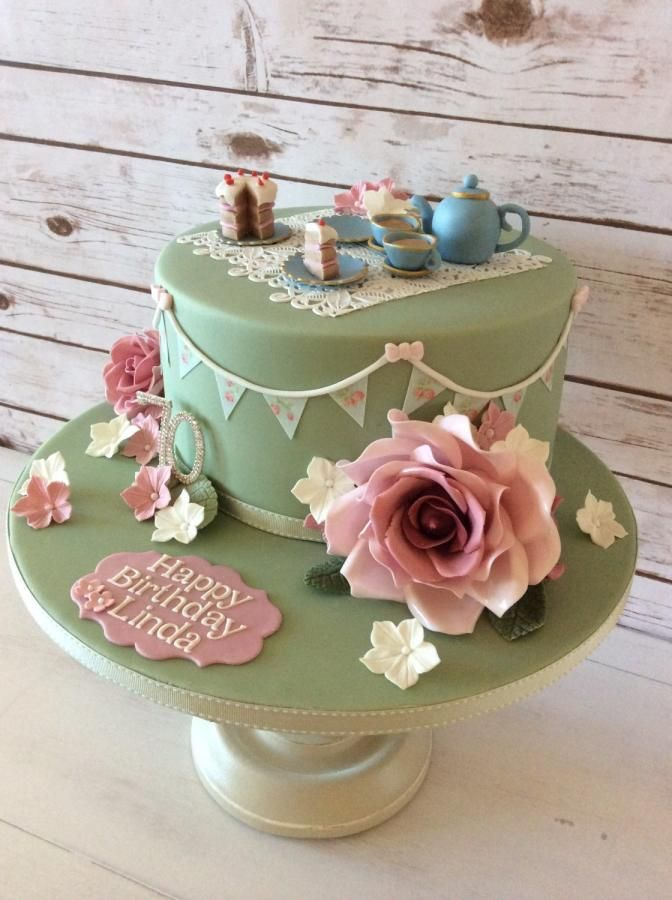 Afternoon Tea cake... how cool is this! The attention to detail is amazing!