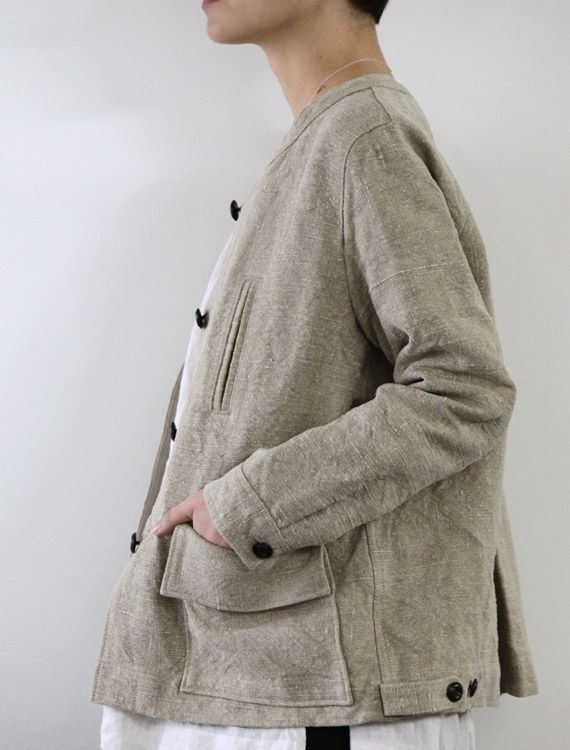 chrissie jacket, belgian linen - envelope