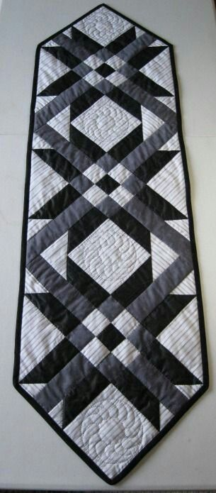 Silver, charcoal, black & ........ Do this as sample with stitch outs!