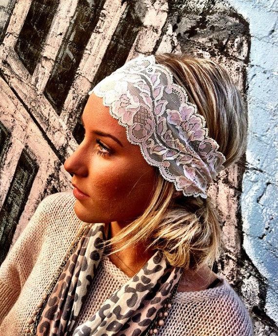 Stretch lace headband. Love.