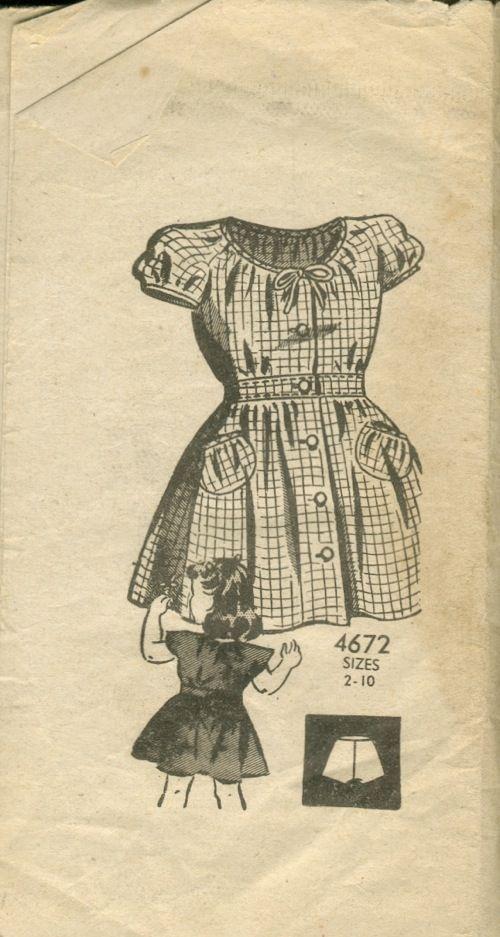 AA 4672: Aa 4672, Vintage, Adams 4672, Order Patterns, American Girl, 1940S Mail