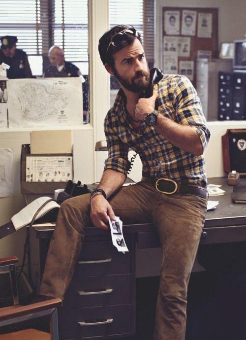 """The """"busy lumberjack"""" look."""