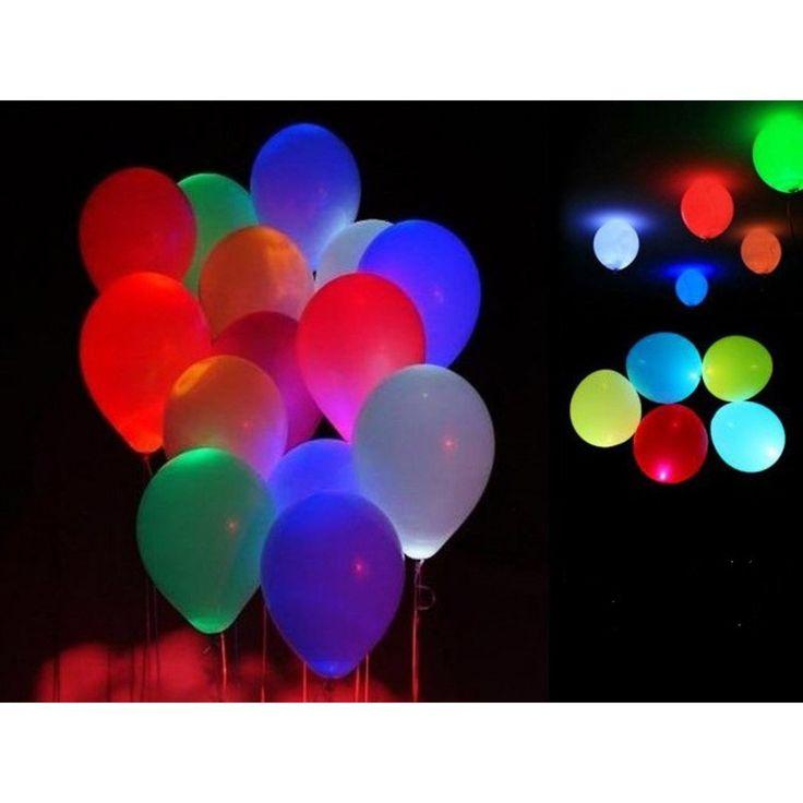 lot de 50 ballons led anniversaire mariage bapteme lumineux couleur amazonfr luminaires - Ballon Phosphorescent Mariage