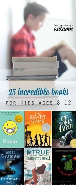 great list of the best books for kids ages 8-12 (grades 4-6). Perfect for a summer reading list!
