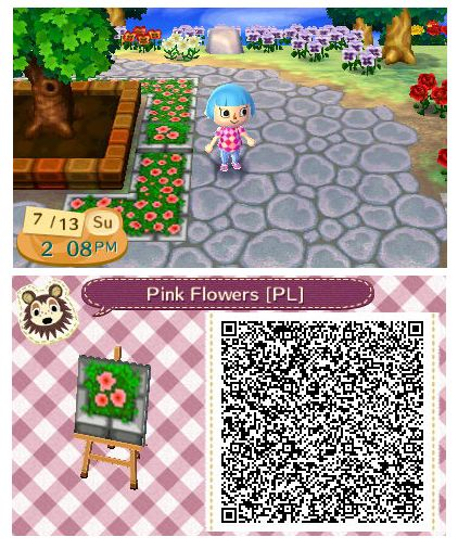 pink flower planter  quirkberry animal crossing