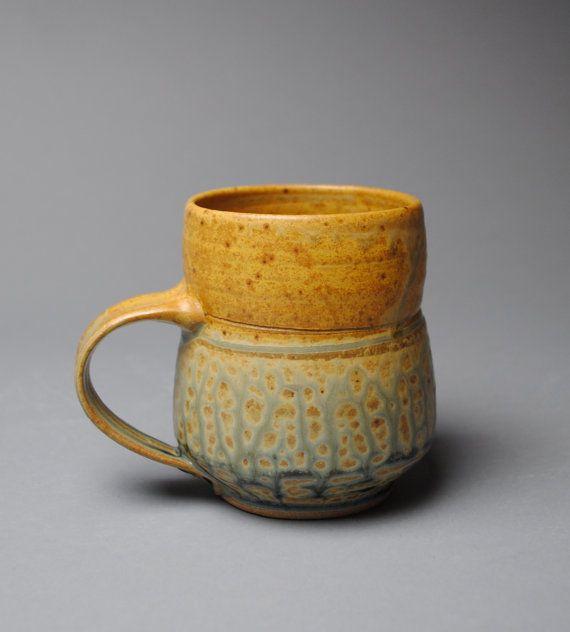 Taffy taza de cerámica de gres y T30 azul por JohnMcCoyPottery