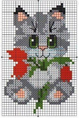 Коты и кошки. ЧАСТЬ 7 / Вышивка / Схемы вышивки крестом
