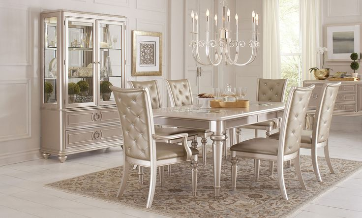 Silver Dining Room Sets Stunning Decorating Design