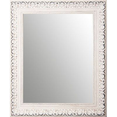"""Rayne Mirrors Ava French Victorian Wall Mirror Size: 26"""" H x 22"""" W x 2"""" D"""
