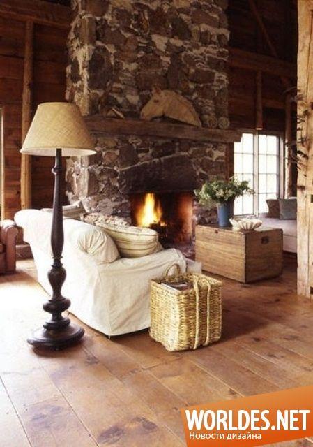 Уютные гостиные в деревенском стиле фото 54