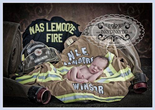 newborn baby pose fireman