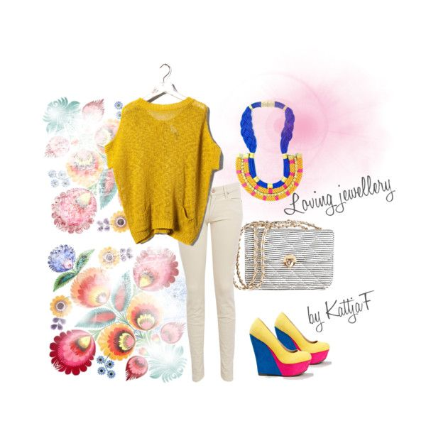 """""""Colorful girl and necklace - enjoy the colors!"""" by kattjaf on Polyvore"""