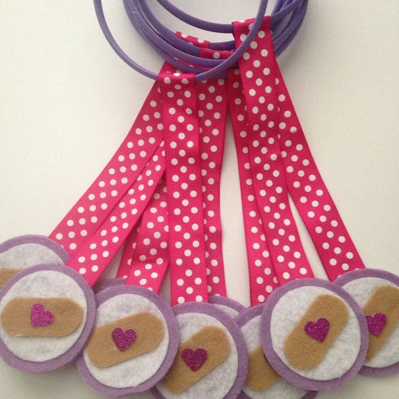 Doc Mcstuffins party favors by DivineGlitters on Etsy