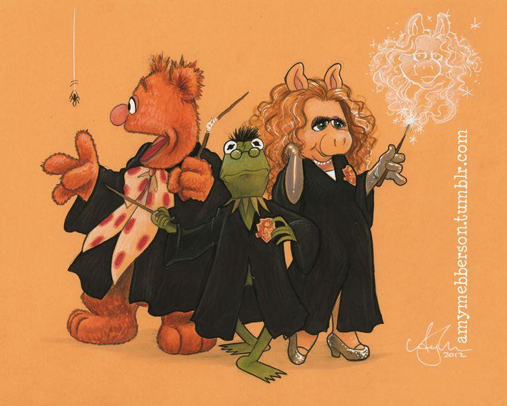 hee hee, Harry Potter/muppets mash up!