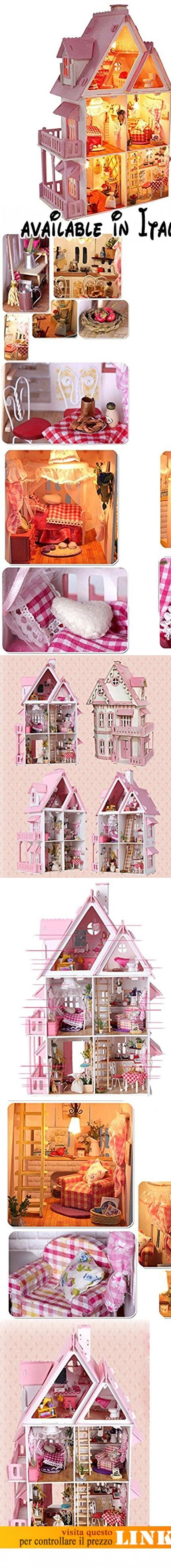 Remeehi - Casa delle bambole. Peso: 3 kg.. Dimensioni: 35 x 30 x 42 cm.. Assemblaggio fai-da-te, le parti sono divise in diversi pacchetti all'interno, da separare più volte per giungere al termine, il montaggio richiede circa 3-7giorni.. Il materiale di una piccola casa come una vera casa, con armadio in legno, tendina in stoffa, libri di carta, per mettere alla prova le capacità del bambino, assemblaggio fai-da-te, un mondo di divertimento.. Set completo, regalo perfetto