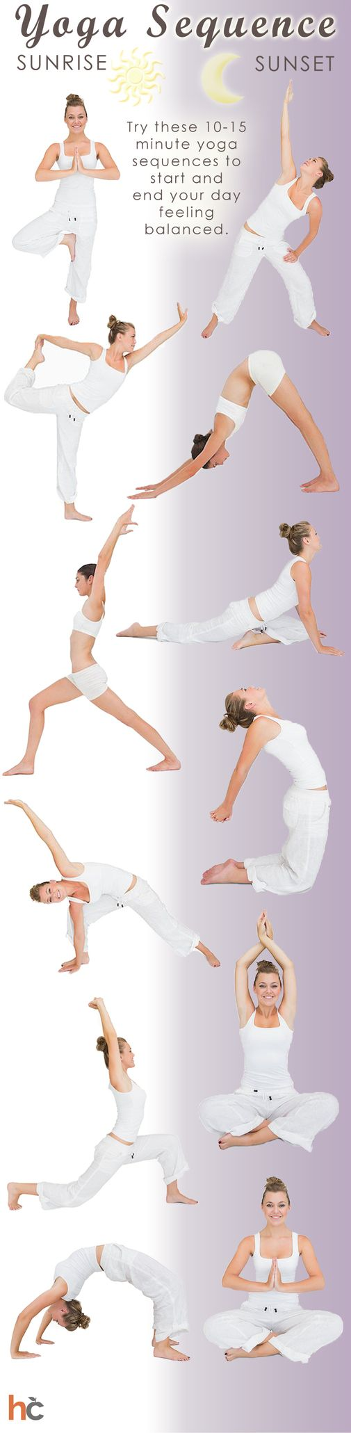 Yoga sequence for morning and night -- fitness design