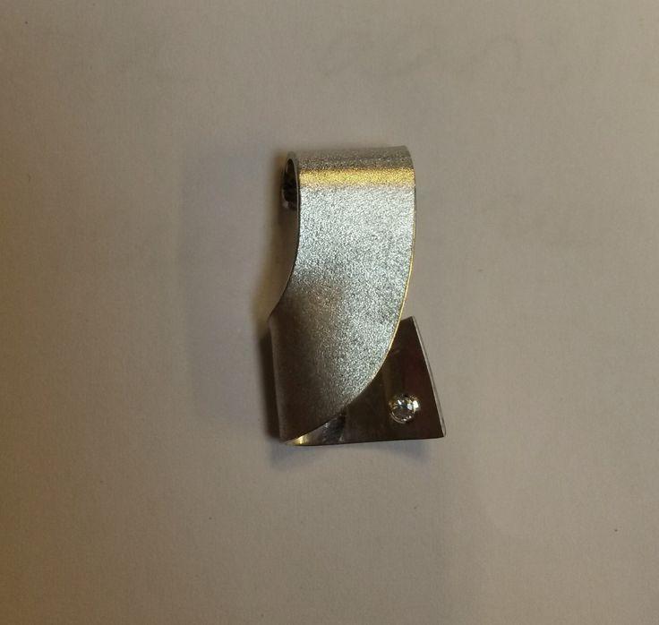 Workshop zilveren hanger maken, met zirkonia #atelier_DOS #workshop