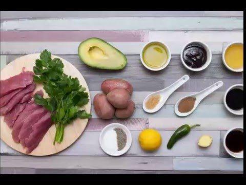 Szűzérmék citromos avokádósalátával