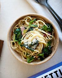 Spaghetti with Escarole and Bacon Recipe on Food & Wine