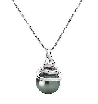 PearlsOnly Demetria Black 8.0-8.5mm AAA Tahitian 14k White Gold Cultured Pearl Pendant PearlsOnly. $349.00. Save 69%!