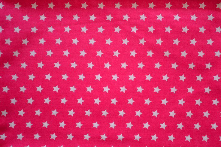 Baumwollstoff   Sterne, rosa   www.feendesign-shop.de