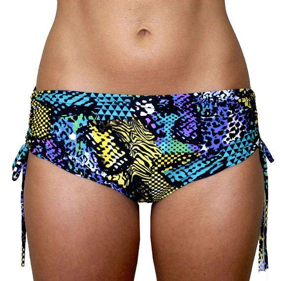 Hot Yoga Bum Bum Shorts in Neon Cobra Bikram by KDeerHauteYogaWear, $42.00