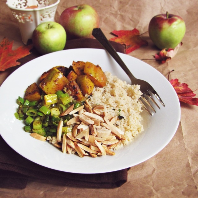 Curried apple cous cous | Salad | Pinterest