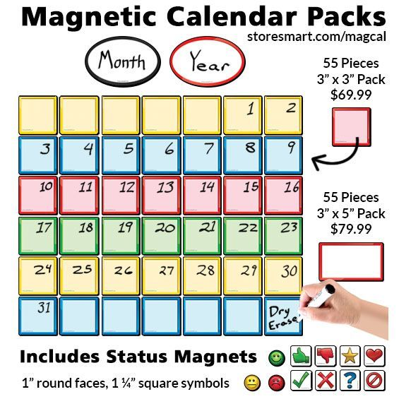 These Magnetic Calendar Packs Make Organizing Your Month Easy