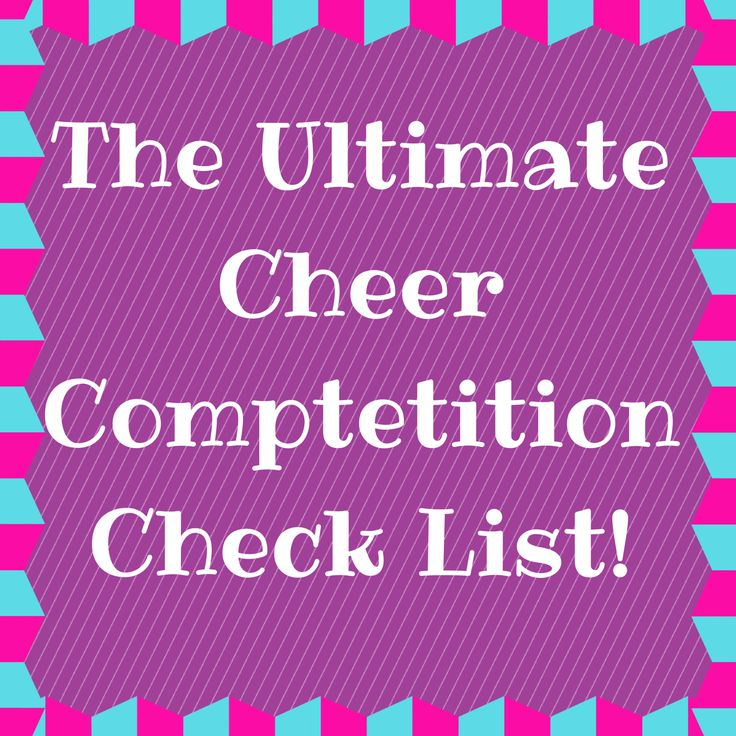twenty oddball: My Cheer Competition Check-List (Everything but the Kitchen Sink)