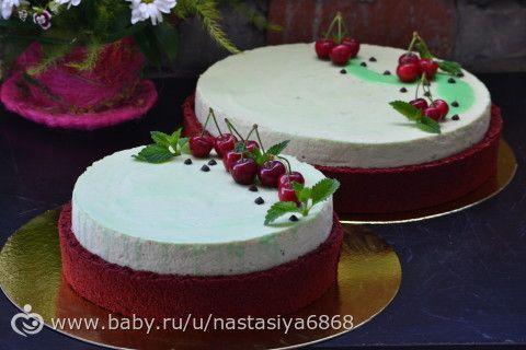 Муссовый торт с черешней и мелиссой (рецепт)