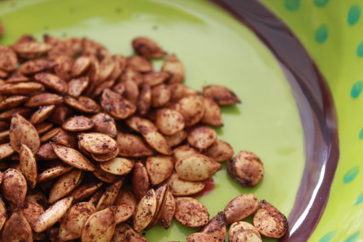 Chili-Lime Roasted Pumpkin seeds. Spicy and tangy! Great blend to ...
