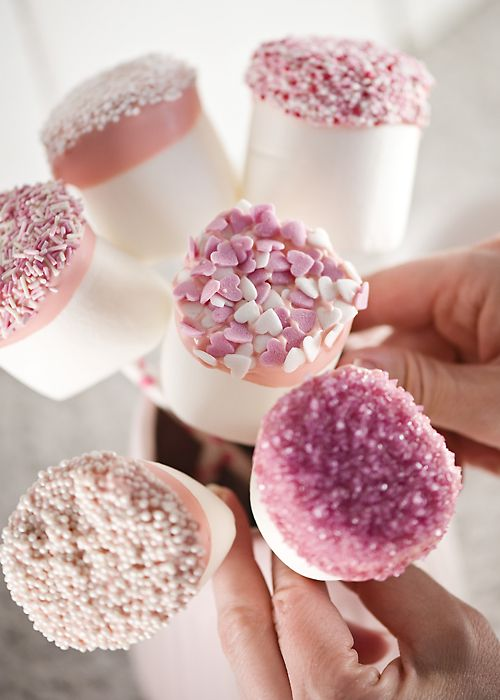 23. Giant marshmallow pops with sprinkles. Check our blog for details on how to make these.