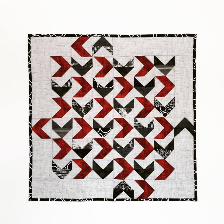 Flying Geese Mini Quilt, Wall Hanging, Textile Art, Quilt