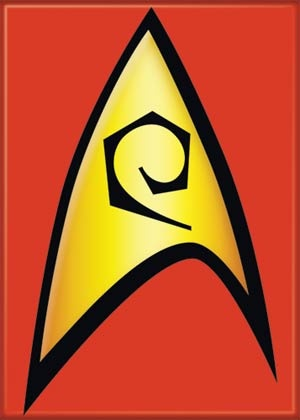 Star Trek Engineer insignia. If I graduate with a degree in engineering, this is totally happening
