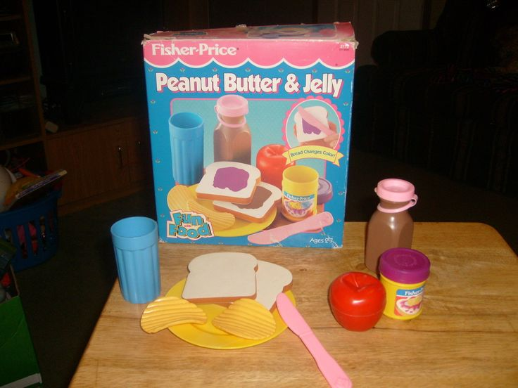 Fisher Price Toy Food : Vintage fisher price peanut butter jelly set fun with food