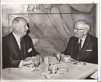 PRESIDENT HARRY TRUMAN PRESS PHOTO WALDORF HOTEL JAMES FARLEY NEW YORK 1960S