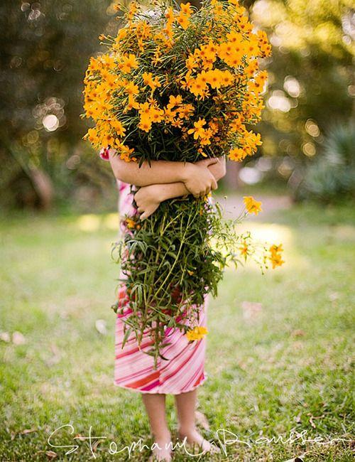 Gathered ...Yellow wild flowers