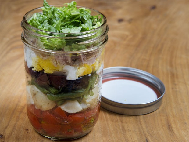 Bonnie Stern Nicoise salad in a jar, no bake cookies