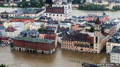 High flood alert across Central Europe